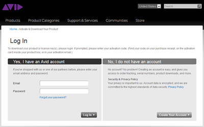 Avid account login